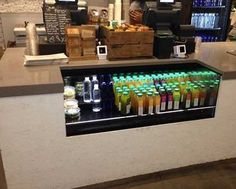 in-counter refrigerated beverage display