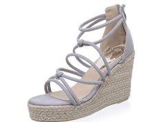 Luxury Brand Designer Espadrilles Wedge Sandals 2017 Rope Heels Women Platform Sandals Gladiator Summer Shoes Woman
