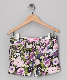 Look what I found on #zulily! Black Floral Shorts by Cutie Patootie #zulilyfinds
