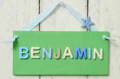 Bedroom Door Plaque - Green and neutrals £10.95