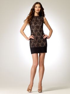 EVENING DRESSES | Black Lace Dress | Caché