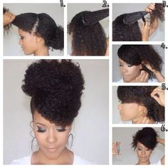 coiffure femme cheveux afro tuto