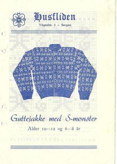 Guttejakke med S-mønster 29