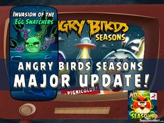 Angry Birds Seasons Update Invasion of the Eggsnatchers
