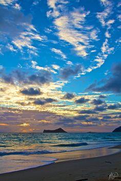 Beautiful Waimanalo Beach Sunrise  Art  Metal by michaelSwebb