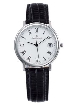Claude Bernard Women's 31211 3 BR Classic Ladies White Dial Roman Numeral Leather Date Watch claude bernard. $151.50. Water resistant up to 99 feet (30 m). White dial with striking roman numerals. Date window. Second-hand feature. Black leather band. Save 24%!