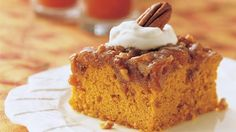 Move over, pumpkin pie!  And let your crowd eat cake.
