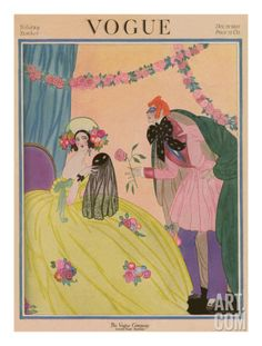 Vogue Cover - December 1922 Regular Giclee Print by Helen Dryden at Art.com