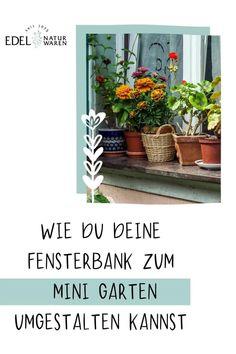 Wenn du keinen eigenen Garten hast, musst du trotzdem nicht auf Gärtnerfreuden verzichten. Dank Urban Gardening lässt sich schon auf der kleinsten Fensterbank oder dem eigenen Balkon ganz schnell ein kleiner Garten anlegen. Und dafür braucht es neben den geeigneten Töpfen, Pflanzen und etwas Geduld eigentlich nur eins: den Mut anzufangen! Wir haben viele Tipps für deinen Mini Garten auf der Fensterbank zusammengefasst. Freu dich auf deinen Minigarten. Balkon Garten, #edel-naturwaren.de Zero, Gardening, Plants, Edible Plants, Large Backyard, Sustainable Gifts, Patience, Diy Gifts, Planting