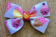 Infant Cupcake Bow  Toddler Cupcake Bow  3 Inch Cupcake Bow