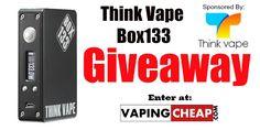 Win a Box 133 Mod from Thank Vape at http://VapingCheap.com