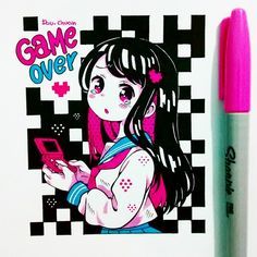 Copic Marker Art, Copic Art, Copic Sketch, Kawaii Drawings, Cute Drawings, Kawaii Art, Kawaii Anime, Dibujos Anime Chibi, Drawn Art
