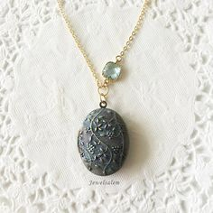 Woodland Rustic Jewellery Locket Necklace Gift Jewelry by Jewelsalem