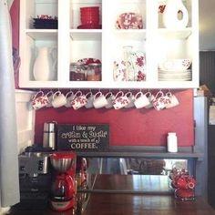 Open Cabinet Coffee Bar
