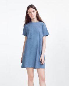 Image 1 of DRESS WITH PLEATED BACK from Zara