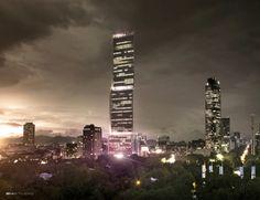 Mexico City - Puerta Reforma - Latinamerica tallest building 70 floors in 2018