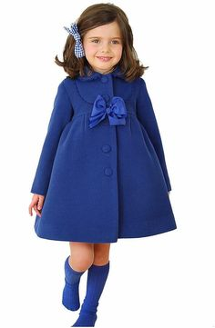 Girl's Formal Woolen Winter Coat