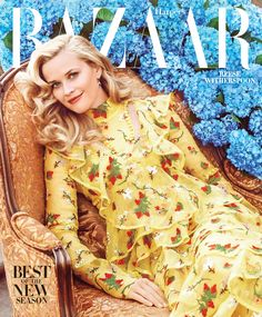 Reese Witherspoon by Alexi Lubomirski for Harper's BAZAAR February 2016 cover - Erdem Spring 2016