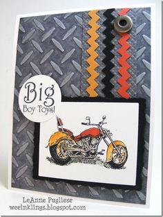 masculine card, handmade card, Stampin' Up.
