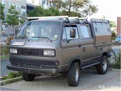 #syncro #doka #bus #vw #tVW Bus T3 Syncro Doka Bus Camper, Off Road Camper, Transporter T3, Volkswagen Transporter, Audi 100, Volkswagen Bus, Combi Ww, T3 Bus, Vw Syncro