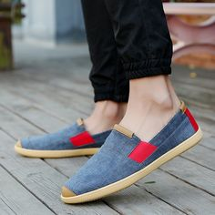Shop Men Breathable Canvas Penny Loafers Espadrilles Slip On Shoes from Happyzoe in Shoes, available on Tictail from Penny Loafers, Slip On Shoes, Men's Shoes, Espadrilles, Modeling, Toms, Man Shop, Flats, Canvas