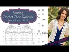 """READING CROCHET CHART SYMBOLS - BASICS,TIPS AND TRICKS: Reading a crochet pattern just got easier! With crochet charts you can actually """"see"""" where a stitch needs to go instead of guessing. Marly Bird, crochet and..."""