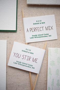 Oh So Beautiful Paper: Sarah + Ben's Summer Camp-Inspired Wedding Invitations