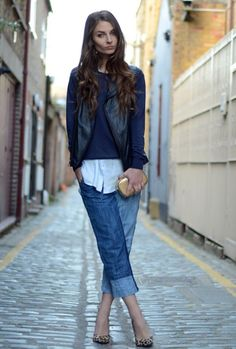 Blue Cropped Denims 2017 Street Style