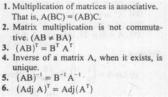 Matrix Multiplication rules