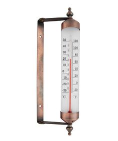 Look what I found on #zulily! Glass & Copper Garden Thermometer #zulilyfinds