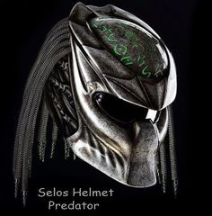 Color : Black We use full helmet DOT as its base and Resin Catalis great Fiber for Predator parts. Helmet come with Red Tri-Lamp (LED) with on-off switch. Size : S - M - L - XL   »To the...@ artfire