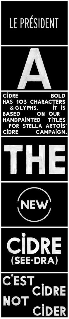 Cidre typeface | Triboro