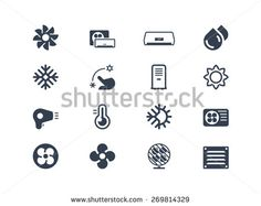 Air conditioning icons