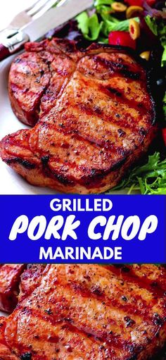 Grilled Pork Chop Marinade – one more delicious reason to use your grill! Grilled Pork Chop Marinade – one more delicious reason to use your grill! Boneless Pork Chop Marinade, Marinade Porc, Grilled Pork Steaks, Grilled Steak Recipes, Baked Pork Chops, Pork Chop Recipes, Grilling Recipes, Pork Chops On Grill, Barbecue Pork Chops