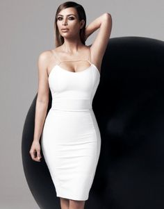 Kardashian Kollection For Lipsy bodycon dress featuring faux leather panel.