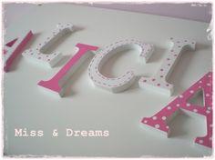 Letras madera ALICIA / Miss & Dreams - Artesanio