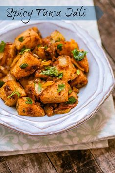 Spicy Tawa/Tava Idli - Quick & Easy Indian Snack Recipe with Leftover Idlis