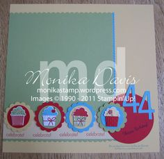 Create a Cupcake scrapbook layout - right page of 2-page layout - Stampin' Up! create a cupcake punch