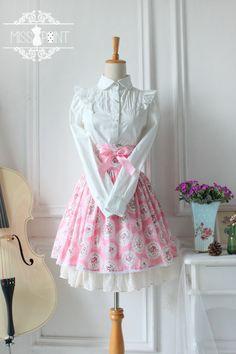 ● ● original design glasses - retro floral garden style fish bone waist skirt skirt lolita ● - Taobao