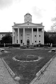 Limestone College in South Carolina  Dances around the fountain were always fun.