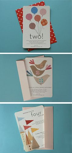 Beautiful hand-made personalised birthday cards Homemade Invitations, Birthday Invitations, Birthday Cards, Invites, Baby Birthday, Invitation Design, Invitation Cards, Bounce House Birthday, Illustration