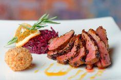 Entenbrust mit Rotkraut und Maroniknödeln #recipe #chestnut #duck #deluxe #redcabbage #redkraut #yummy #easy #knödel