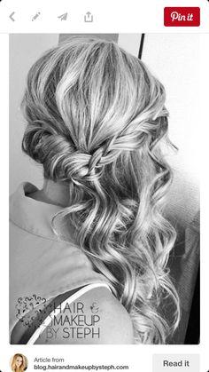 Beautiful hair down bridesmaid