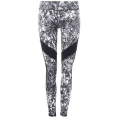 Marblelicious Sport Legging ($33) ❤ liked on Polyvore featuring pants, leggings, sports leggings, sports trousers, sports pants, sport trousers and legging pants