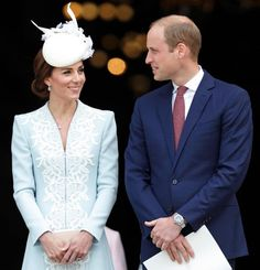 Pin for Later: Summer Is Just Getting Started, but For the Royal Family, It's Already Lit  Prince William and Kate Middleton shared sweet smiles at a British national service in June.