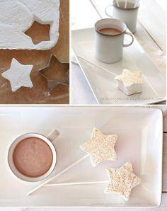 Marshmallow-Sterne für Schokolade