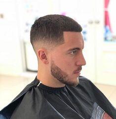 Best Fade Haircuts, Haircuts For Men, Messi Beard, Hair And Beard Styles, Short Hair Styles, Eden Hazard, Fade Designs, Taper Fade Haircut, Faded Hair