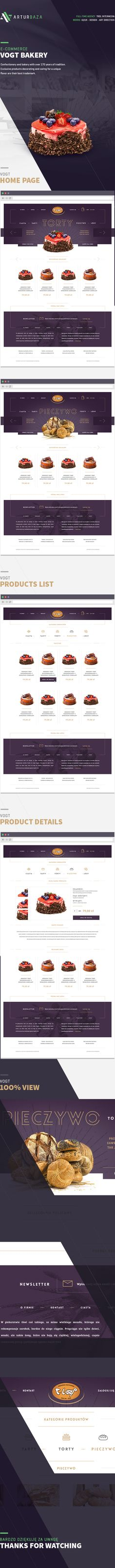 VOGT Bakery e-commerce on Web Design Served