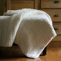 The Boulevard Blanket….it's quick, easy, chunky, warm and reversible!
