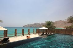 Spectacular pool view overlooking the Gulf of Oman at Six Senses Zighy Bay.